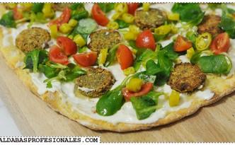 Pizza de falafel - Tragaldabas Profesionales